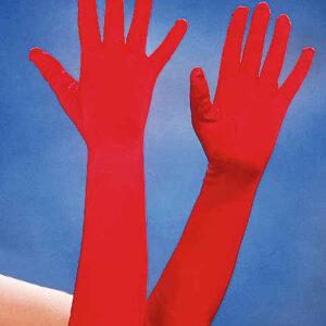 Satin-Handschuhe ca. 40cm,rot
