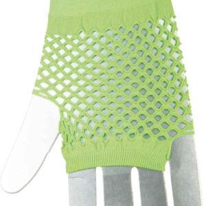 Netzhandschuhe fingerlos kurz,neongrün