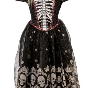Totenkopfkleid Halloween Gr. 128