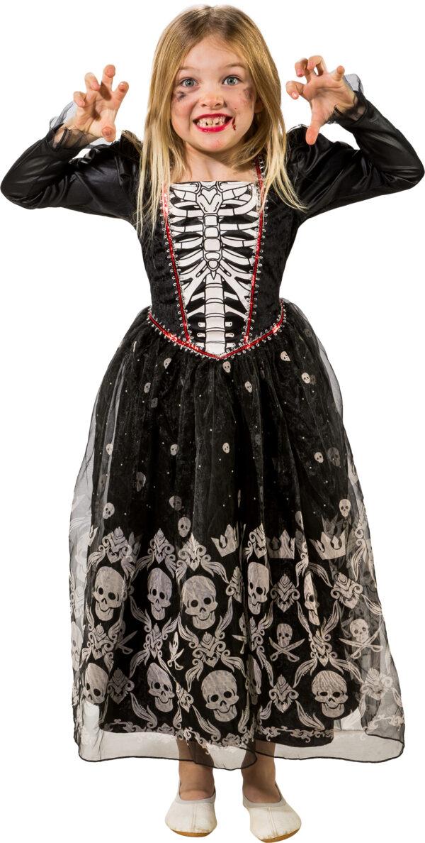 Totenkopfkleid Halloween Gr. 140