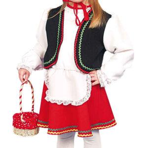 Rotkäppchen (Kleid,Kappe) Gr./KW: 116/128