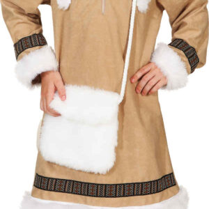 Eskimo Mädchen (Kleid m. Kapuze) Gr./KW: 128