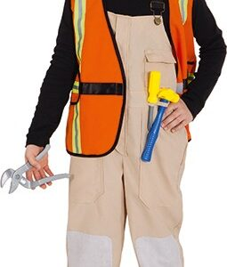Bauarbeiter (Latzhose,Weste,Helm,Hammer,Schraubendreher,Zange) Gr./KW: 140