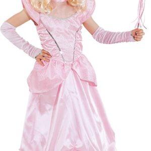 Schlossprinzessin,rosa (Kleid m. Reifrock,Handschuhe) Gr./KW: 116