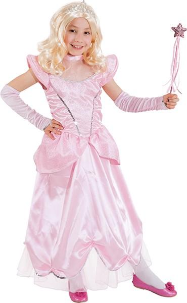 Schlossprinzessin,rosa (Kleid m. Reifrock,Handschuhe) Gr./KW: 140