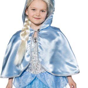 Prinzessin blau-silber (Kleid m. Reifrock) Gr.116