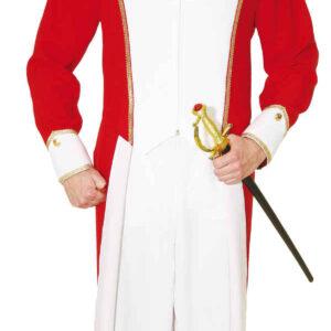Gardemajor,rot-weiß m. Goldborte (Frack,Hose) Gr./KW: 52