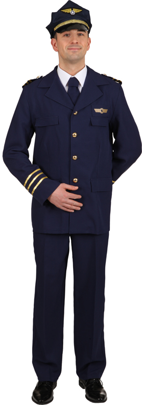 Flugkapitän (Jacke,Hose,Krawatte) Gr./KW: 58/60