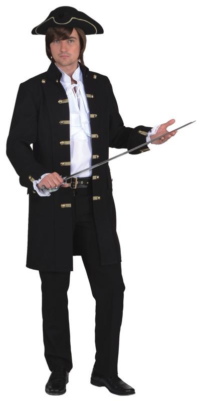 Piratenjacke de Luxe schwarz für Herren Gr.46/48