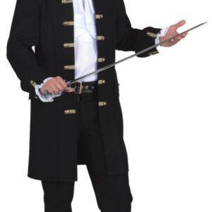 Piratenjacke de Luxe schwarz für Herren Gr.54/56