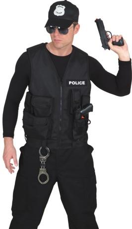 Policeweste,schwarz  Gr./KW: Einheitsgr.