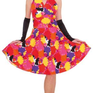 Kleid m. Blumen,pink-bunt  Gr./KW: 40