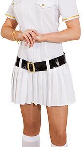 Captain Woman, weiß (Kleid, Gürtel) Gr.40