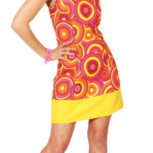 Crazy Disco Queen, orange/gelb (Kleid) Gr. 42