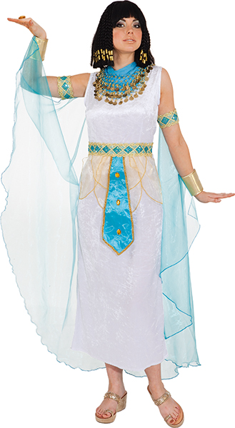 Ägypterin weiß (Kleid m. Gürtel,Umhang) Gr./KW: 44/46