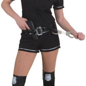 Police Girl,schwarz (Overall,Gürtel) Gr./KW: 38