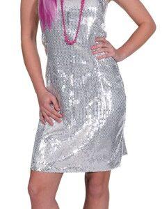 Paillettenkleid,silber Gr./KW: 42