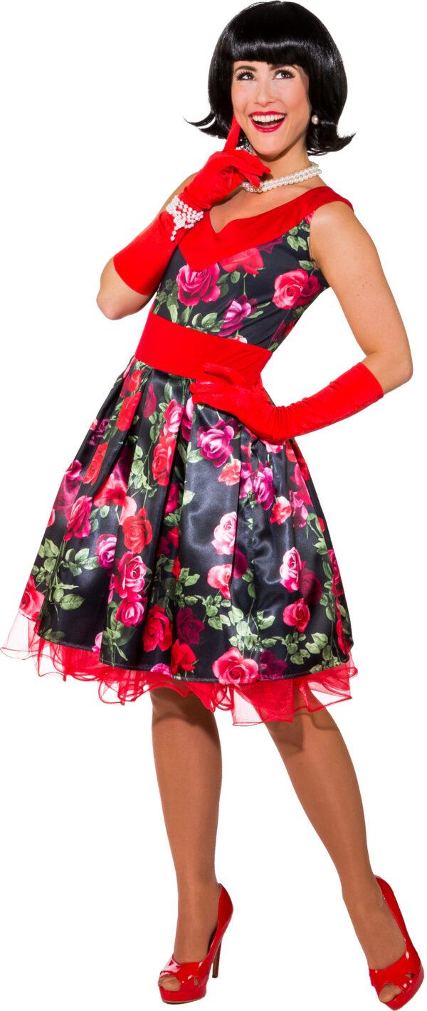 Kleid Blumen 50er (Kleid m. Petticoat) Gr. 38