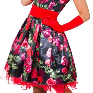 Kleid Blumen 50er (Kleid m. Petticoat) Gr. 40