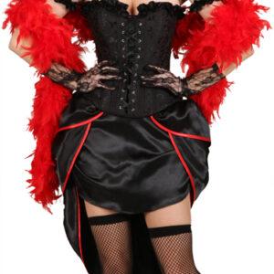 Burlesque-Korsage,schwarz Gr./KW: L