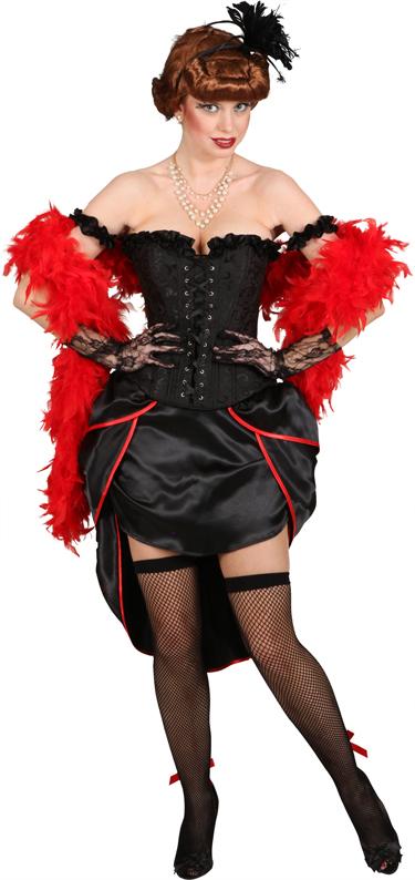 Burlesque-Korsage,schwarz Gr./KW: XL