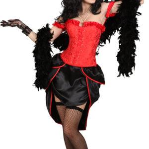 Burlesque-Korsage,rot Gr./KW: L