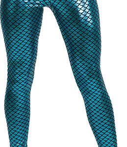 Leggings Fischschuppen,blau-glänzend Gr./KW: S/M