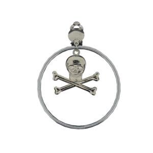 1 Paar Ohrringe Creole Pirat platinfb.