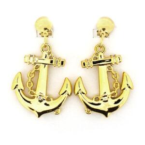 1 Paar Ohrringe Anker goldfb.