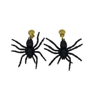 1 Paar Ohrringe Spinne schwarz