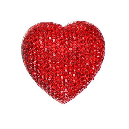 Fingerring Herz rot