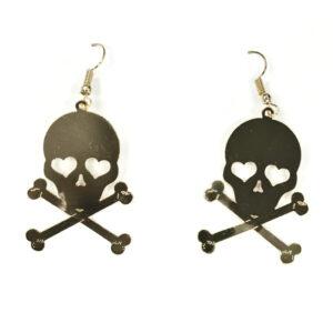 1 Paar Ohrringe Totenkopf goldf.