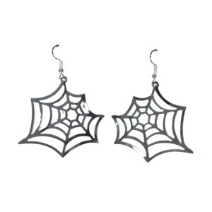 1 Paar Ohrringe Spinnennetz platinf.