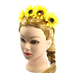 Haarreif 4 Sonnenblumen