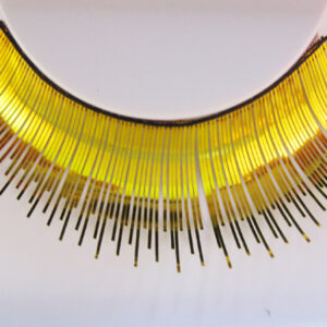 Wimpern, Gold, Profi-Qualität mit Kleber + Anleitung