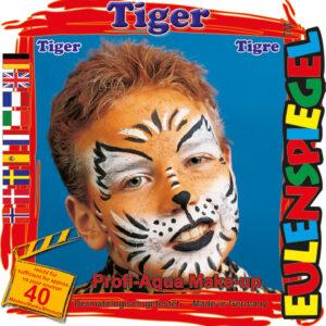 Motiv-Set Tiger, mit 4 Farben, Pinsel und Anleitung