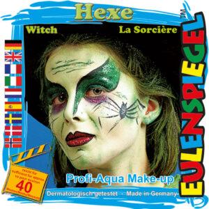 Motiv-Set Hexe, mit 4 Farben, Pinsel und Anleitung