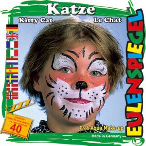 Motiv-Set Katze, mit 4 Farben, Pinsel und Anleitung