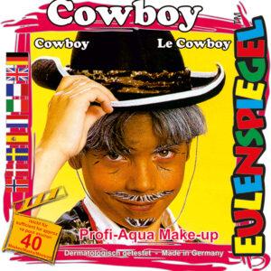 Motiv-Set Cowboy, mit 4 Farben, Pinsel und Anleitung