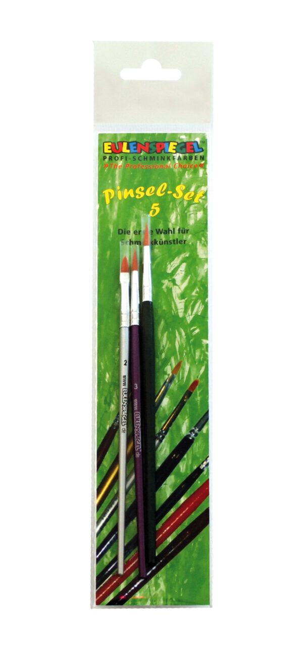 Profi Pinsel-Set  2er Katzenzungen 3er + 4er Rundpinsel