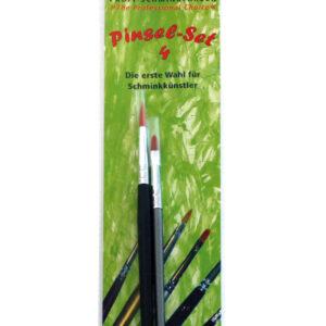 Profi Pinsel-Set 4, 2er Katzenzungen, 4er Rundpinsel