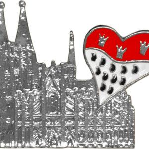 Brosche Dom Herz-Wappen silber
