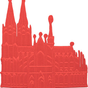 Aufbügler Kölner Dom rot