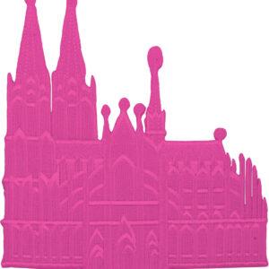 Bügelbild Dom klein 1er pink