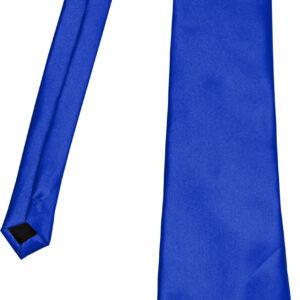 Satinkrawatte, blau