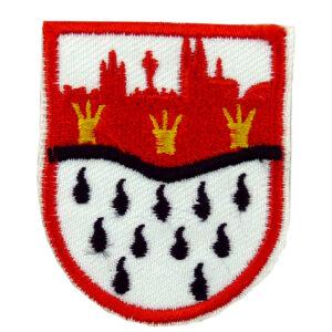 2 Bügelbilder - kleines Wappen mit Skyline
