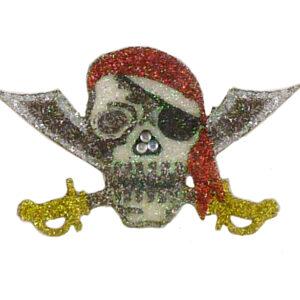 Glimmer Tattoo Pirat Totenkopf