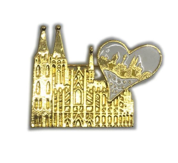 Brosche Dom Herz Skyline gold