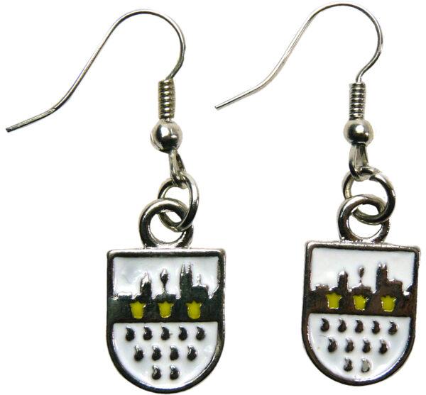 Ohrhänger Köln-Wappen, silber Skyline