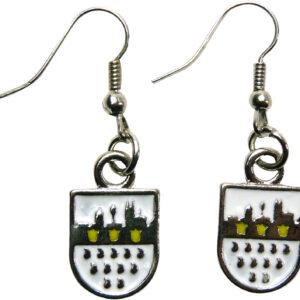 1 Paar Ohrringe Wappen Skyline silber